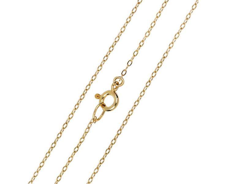 Brilio Elegantní zlatý řetízek (Délka 50 cm)