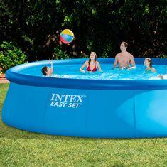 Intex bazen Easy Set 549 × 122 cm, s kartušno črpalko, lestev, podloga, prevleka (28176NP)