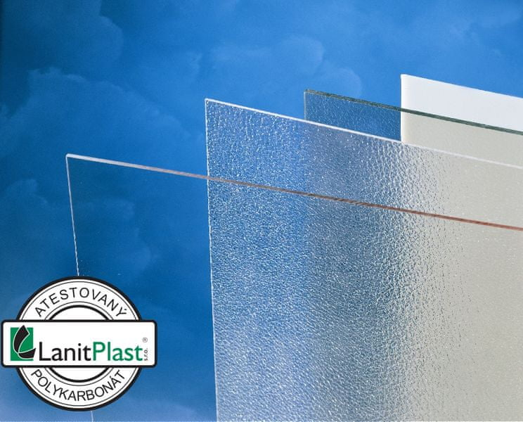 LanitPlast Polykarbonát plný 4 mm čirý 1,025x2,033 m