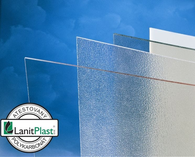 LanitPlast Polykarbonát plný 2 mm čirý 1,025x2,033 m