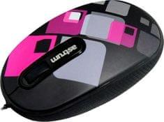 Astrum MU400 felcsévélhető USB optikai egér, Pink