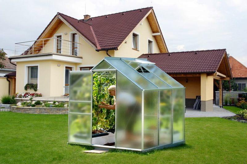 VITAVIA skleník VITAVIA VENUS 3800 matné sklo 4 mm stříbrný