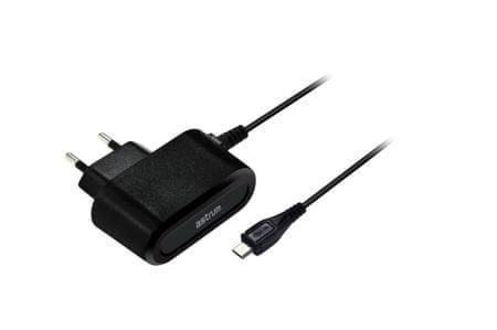 Astrum CH100 micro USB hálózati töltő, Fekete