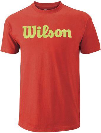 Wilson moška majica Script Tee Fiesta/Green Glow, M