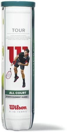 Wilson teniška žogica Tour All Court, 4 kosi