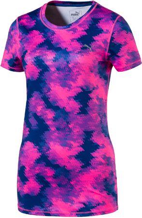 Puma ženska majica Essential Tee, Graphic Pink, XS