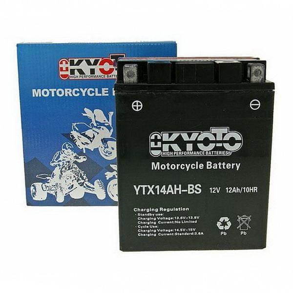 Baterie KYOTO 12V 12Ah YTX14AH-BS (dodáváno s kyselinovou náplní)