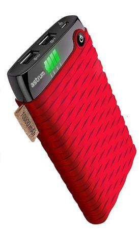 Astrum Tűzálló power bank LED kijelzővel 10000mAh, Piros