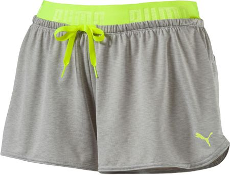 Puma ženske hlače Transition Drapey Shorts, sive, L