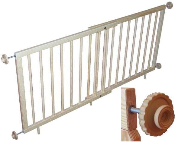 Sun Baby Dětská schodová zábrana 88-128 cm alfa plus