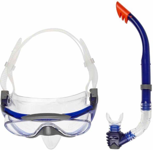 Speedo Glide Mask Snorkel Set Blue/White