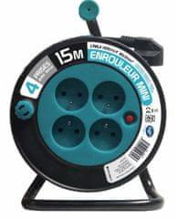Moveto Prodlužovací kabel na bubnu 15 m modrý (114192605)