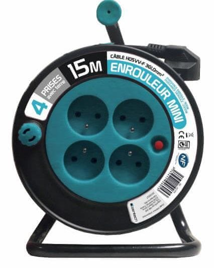 Moveto Prodlužovací kabel na bubnu 15m modrý