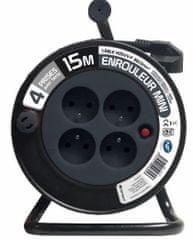 Moveto Prodlužovací kabel na bubnu 15 m černý (114192625)