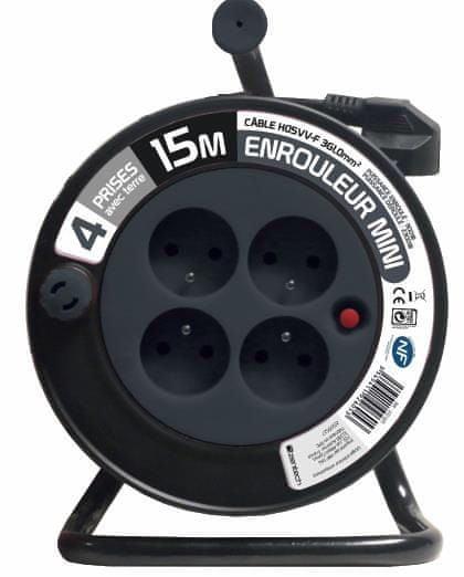 Moveto Prodlužovací kabel na bubnu 15m černý