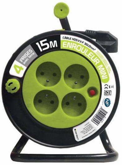 Moveto Prodlužovací kabel na bubnu 15m zelený
