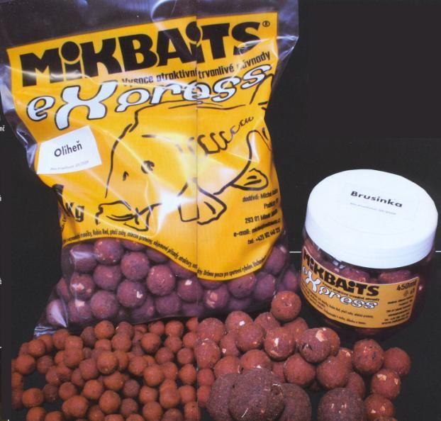 Mikbaits boilies eXpress original 2,5 kg 18 mm česnek