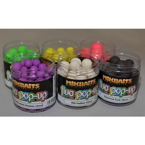 Mikbaits plovoucí boiles fluoro 250 ml 14 mm neutral fluo mix