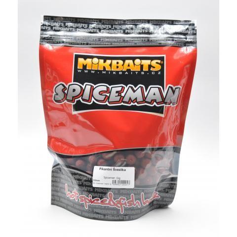 Mikbaits boilies Spiceman Pikantní švestka 10 kg, 20 mm
