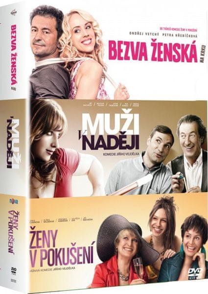 Kolekce Bezva ženská na krku + Ženy v pokušení + Muži v naději (3DVD) - DVD