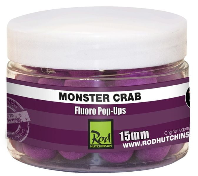 ROD HUTCHINSON Fluoro Pop-Up Monster Crab With Shellfish Sense Appeal 15 mm
