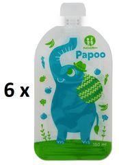 Petite&Mars Kapsička na jídlo Papoo Slon 6 ks