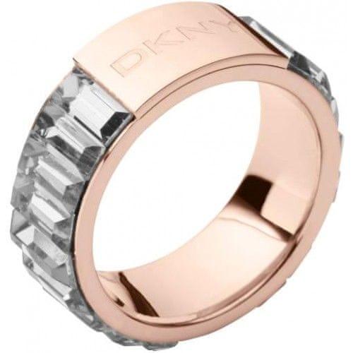 DKNY Bronzový prsten s krystaly NJ1820040 (Obvod 53 mm)