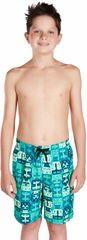 Speedo Printed Leisure 17 Navy/Jade/Green Glow