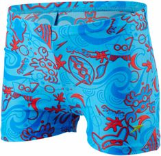 Speedo Kąpielówki Sea Squad Alover Aquashort Neon Blue/Risk Red/Japan Blue