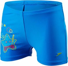 Speedo Kąpielówki Sea Squad Placement Aquashort Neon Blue/Japan Blue/Risk Red