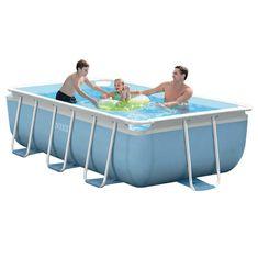 Intex bazen Prism Frame Set 400 x 200 x 100 cm, s kartušno črpalko, lestev (28316NP)