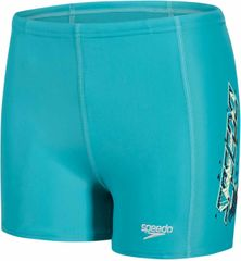 Speedo Placement Panel Aquashort V3 Junior Jade/Lemon Sorbet/Navy
