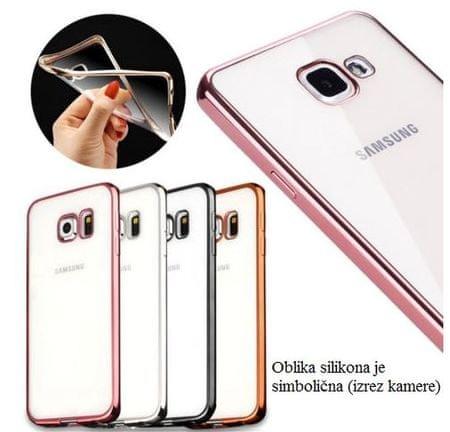 Silikonski ovitek z okvirjem za Samsung Galaxy A5 A520 2017, temno siv