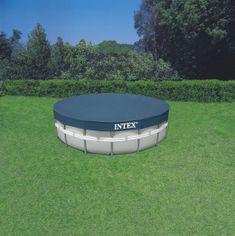 Intex bazen Ultra Frame Set 488 x 122 cm, s kartušno črpalko, lestev, podloga, prevleka (28322NP)