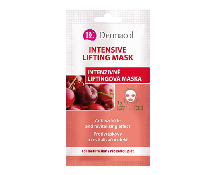 Dermacol Textilní intenzivně liftingová maska 3D (Anti Wrinkle Revitalizing Effect) 1 ks