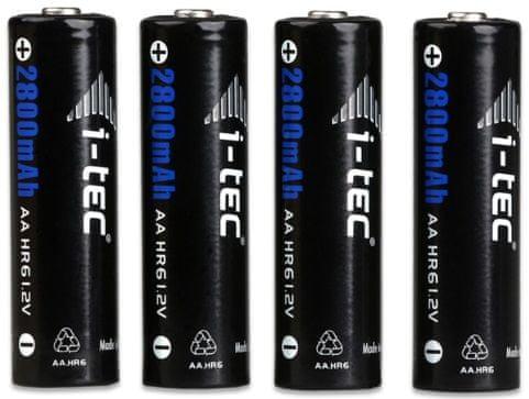 I-TEC Nabíjecí baterie (AA, 4x, 2800 mAh), černá
