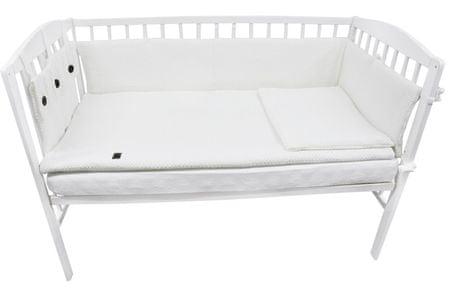 EKO Dzianinowy zestaw do łóżeczka dziecęcego, biały
