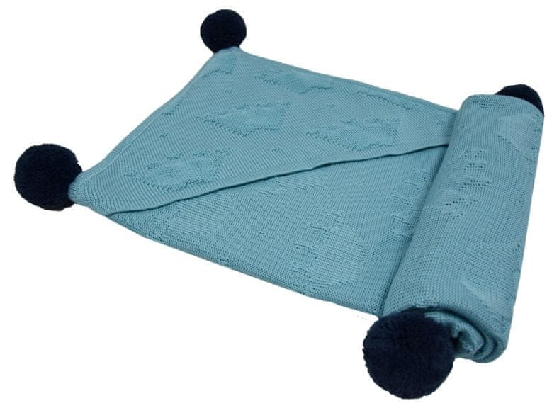 "EKO Bambusová deka ""Crown"" - Turquoise"