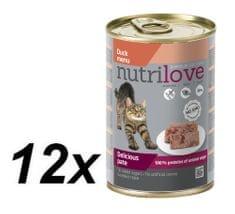 Nutrilove Cat paté DUCK 12 x 400g