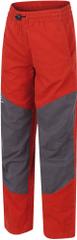 Hannah otroške hlače Twin JR, rdeče/sive