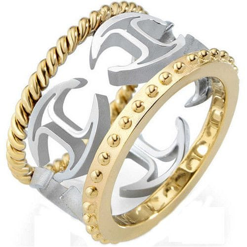 Just Cavalli Ocelový bicolor prsten Just Pure SCAGE03 (Obvod 58 mm)