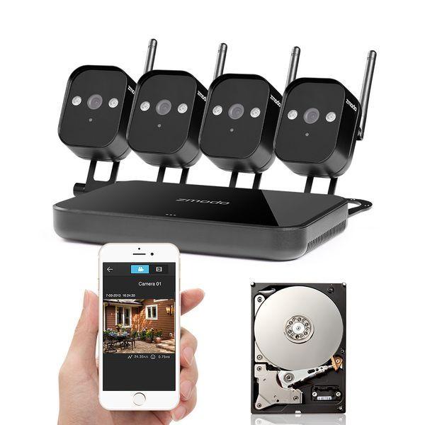 Zmodo 720P Wifi Mini NVR+4xIP CAM+1TB HDD (UMNP10069)
