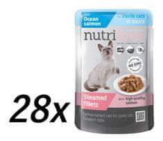 Nutrilove saszetki dla kota STERILE, z łososiem 28 x 85g