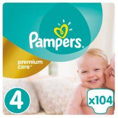 Pampers Pieluchy Premium Care, rozmiar 4 Maxi - 104 sztuki