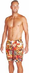 Speedo Printed Check Leisure 18 Watershorts Black/Lava Red/Mango