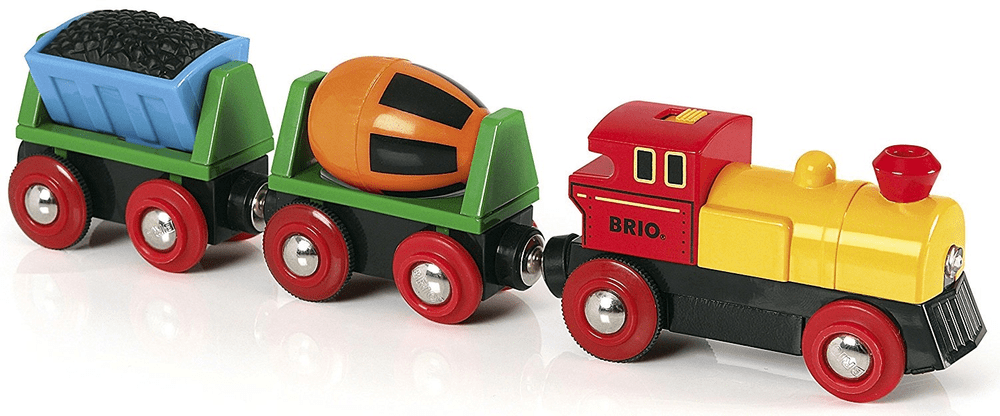 Brio WORLD 33319 Elektrická mašinka s vagónky a světly