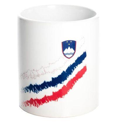 Slovenija skodelica z zastavo (04684)
