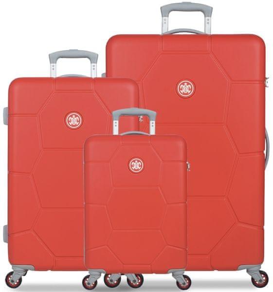 SuitSuit Sada cestovních kufrů Caretta Fiery Red