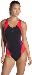 Speedo ženske enodelne kopalke Fit Splice, črno-roza