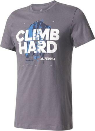 Adidas koszulka Climb Hard Tee TRace Grey M